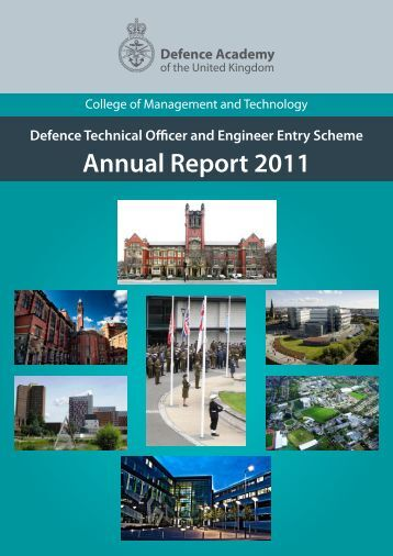 Annual Report 2011 - Defence Academy of the United Kingdom