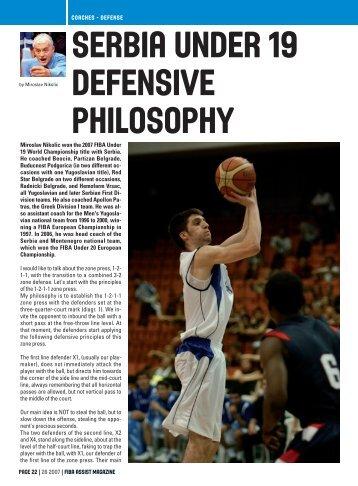 Serbia U19 Defensive Philosophy - Basketball New Zealand