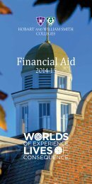 Financial Aid Brochure - Hobart and William Smith Colleges