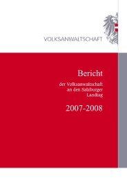 Bericht der Volksanwaltschaft für Salzburg 2007/2008 >> (pdf, 0,4 MB)
