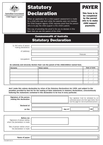 how to write a statutory declaration victoria