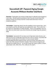 SecureAuth IdP- Password Aging Google Accounts Without Another ...