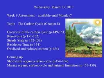 Wednesday, March 13, 2013 Week 9 Assessment – available until ...
