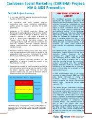 (CARISMA) Project - PANCAP- Pan Caribbean Partnership against ...