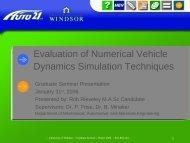 Rob Rieveley - Graduate Seminar (31JA06) - Vehicle Dynamics and ...