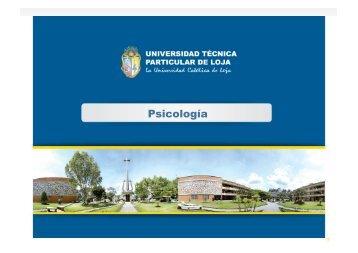 Carrera de Psicologia - Universidad Técnica Particular de Loja