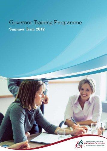 Governor Training - Summer Programme 2012 - Rhondda Cynon Taf