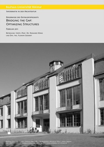 Bridging the Gap: Optimizing Structures - InfAR - Bauhaus ...