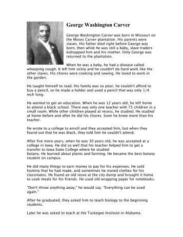 George Washington Carver Word Scramble - TJEd Online.com