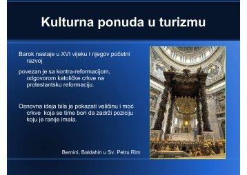 Kulturna ponuda u turizmu