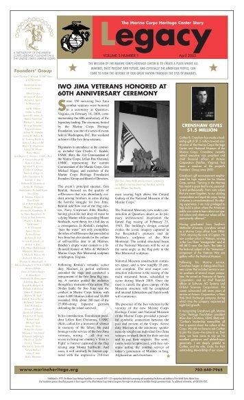 IWO JIMA VETERANS HONORED AT 60TH ANNIVERSARY ...