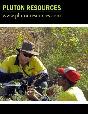 PLUTON RESOURCES - The International Resource Journal