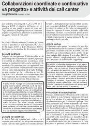 Collaborazioni coordinate e continuative Ã'Â«a progetto ... - UILA Potenza