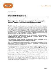 Challenger BREEAM Award (DE) - Losinger