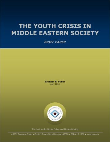 the youth crisis in middle eastern society - Institute for Social Policy ...