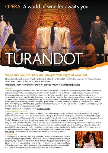 Turandot e-guide - Opera Australia