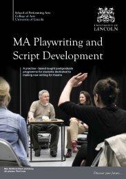 Playwriting and Script Development Course Postcard (PDF)