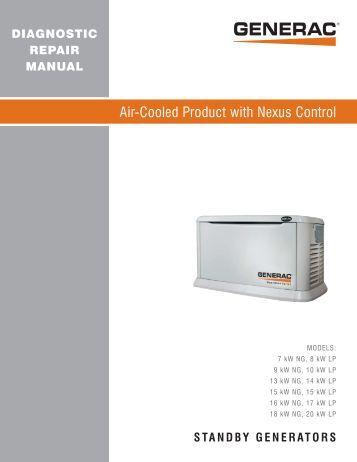 diagnostic repair manual generac parts diagnostic repair manual 5800 series 2010 generac parts