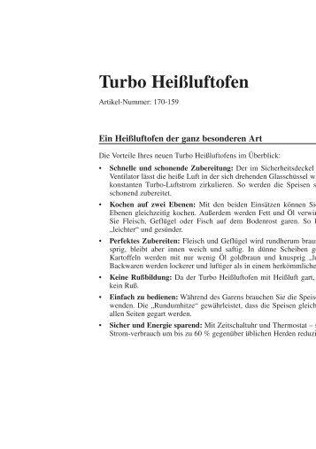 Turbo Heißluftofen