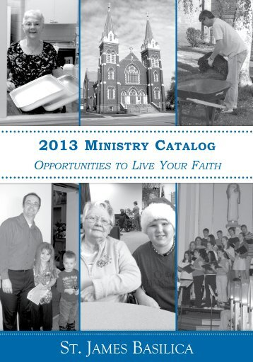 Ministry Catalog - St. James Basilica