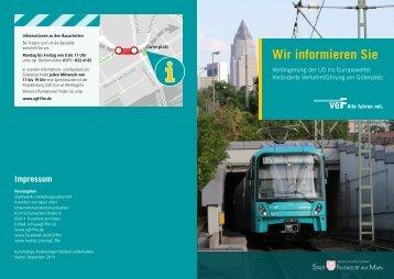 VGF Flyer Europaviertel - Verkehrsgesellschaft Frankfurt am Main ...
