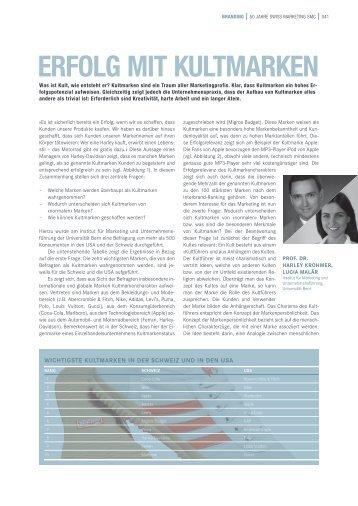 Erfolg mit KultmarKEn - IMU - Marketing - Universität Bern