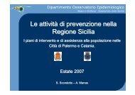 Le attività di prevenzione nella Regione Sicilia: i ... - CCM Network