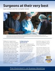 Surgery Insert, March 14, 2013 - University of Kansas Medical Center