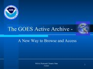 The GOES Active Archive - - National Climatic Data Center - NOAA