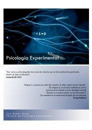 Programación Psicología Experimental - Psicologia Experimental