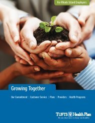 Growing Together (R.I.) - Tufts Health Plan