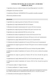 conseil municipal du 25 juin 2013 a 18 heures ordre du jour