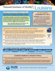 Louisiana and the Value of NIH Funding