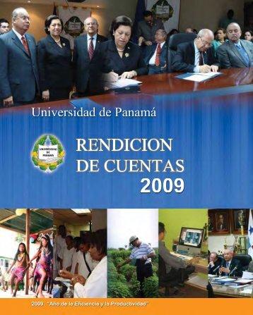 RENDICIÒN DE CUENTAS 2009 - Universidad de Panamá