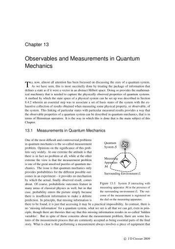 Observables and Measurements in Quantum Mechanics