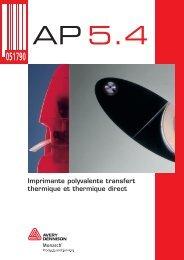 Imprimante polyvalente transfert thermique et ... - Labeltech AG