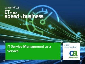 IT Service Management as a Service - CA