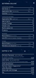 Getränke–Galaxie kaffee & tee