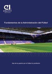 Fundamentos de la administracion del futbol