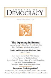 A Fraying Union - Journal of Democracy