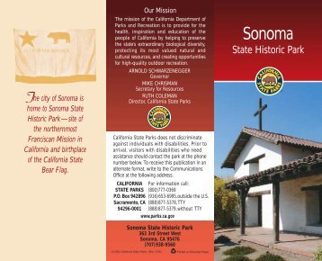 Sonoma State Historic Park Map - Sonoma County Hiking Trails