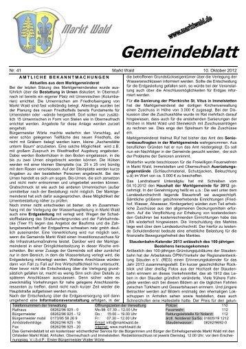 """""""St. Vitus"""" Immelstetten vom 14. bis 21. Oktober 2012"""