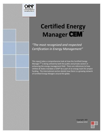 certified energy auditor study guide association of energy rh yumpu com Energy Manager Certifioed Report Signature Residential Energy Auditor