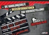 die handlungshilfe basisinformationen zur videoerstellung!