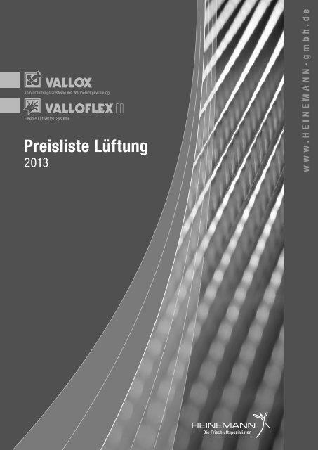 Preisliste Lüftung - Heinemann GmbH