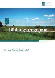 Aus- und Weiterbildung 2009 - Deutsche Makler Akademie