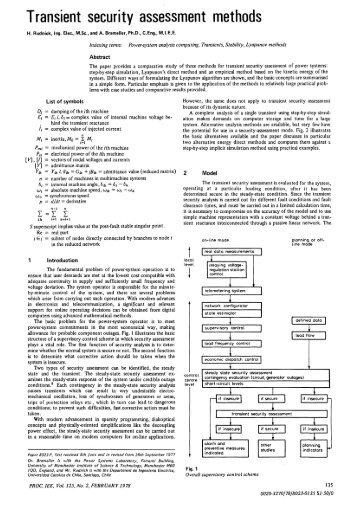 Transient security assessment methods - IEEE Xplore