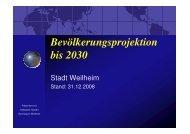 Präsentation ,,Bevölkerungsprojektion Weilheim - Gymnasium ...