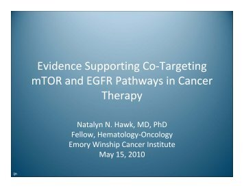 Evidence Supporting Co-Targeting mTOR and EGFR Pathways in ...