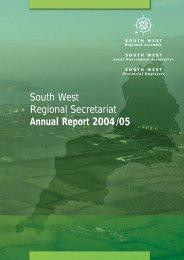 Annual Report 2004-2005 - PDF format - South West Councils